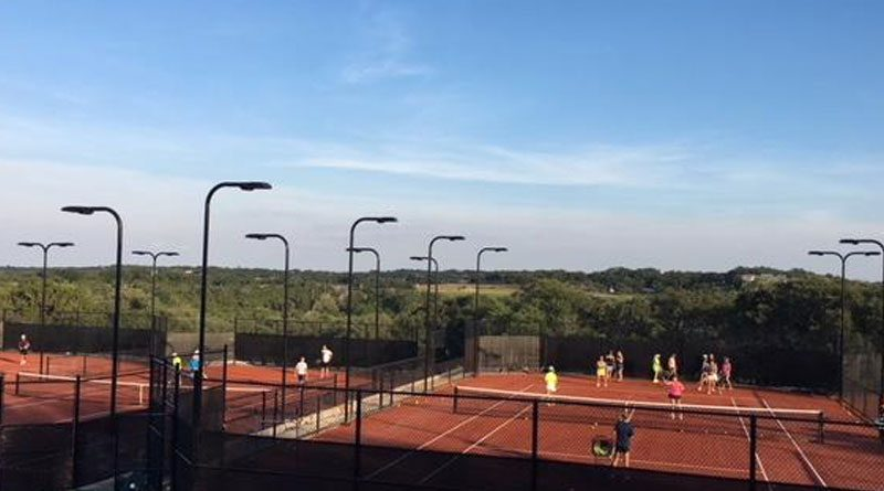 Euro Red Clay Tennis LED Lighting