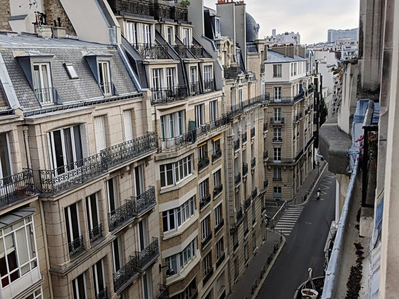View from the Balcony of Paris Streets