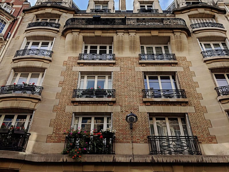 Paris Art Nouveau Building - Front